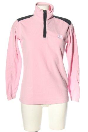 Toptex Fleecepullover pink-schwarz Casual-Look
