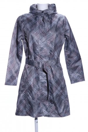 Raincoat abstract pattern casual look