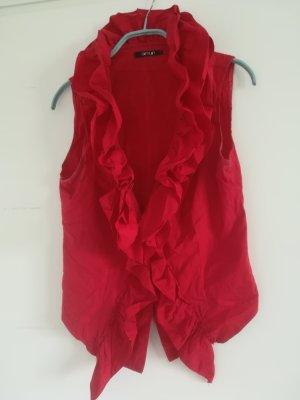 Blusa con volantes rojo