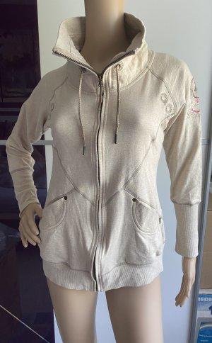 TORSTAI Damen Sweatjacke aus 100% Baumwolle in beige Gr.XS