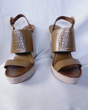 Tory Burch Platform Sandals bronze-colored-light brown