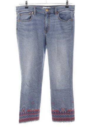 Tory Burch Jeans a 7/8 blu-rosso motivo grafico stile casual
