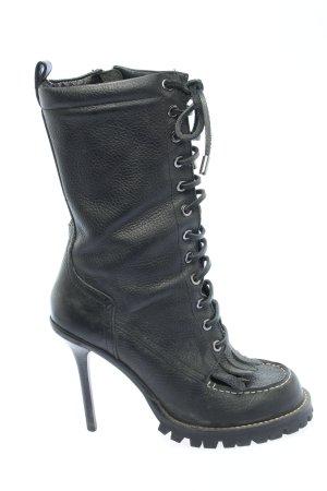 Tory Burch Absatz Stiefel schwarz extravaganter Stil