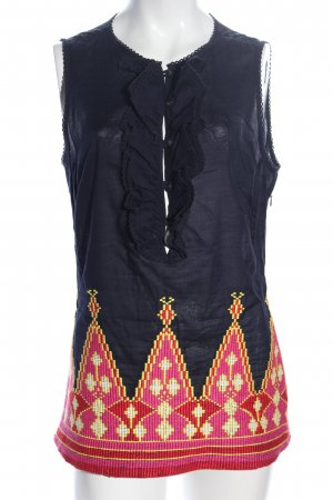 Tory Burch ärmellose Bluse Motivdruck Casual-Look