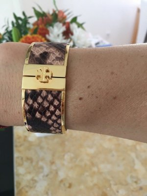 Tory Burch Brazalete color oro-color bronce acero inoxidable