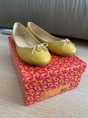 Tory Burch Ballerinas with Toecap yellow-gold-colored leather