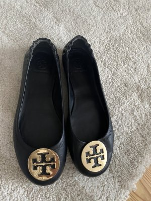 Tory Burch Ballerines pliables noir cuir