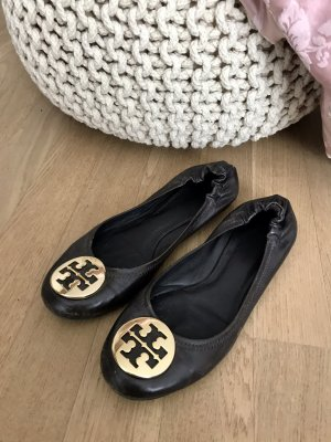 Tory Burch Ballerinas in braun/gold