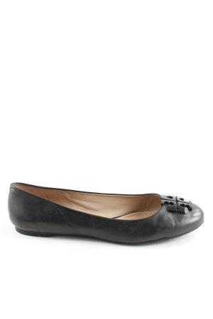 Tory Burch Mary Jane Ballerinas black leather