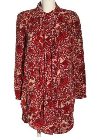 Tory Burch Abito blusa rosso-bianco sporco motivo floreale stile casual