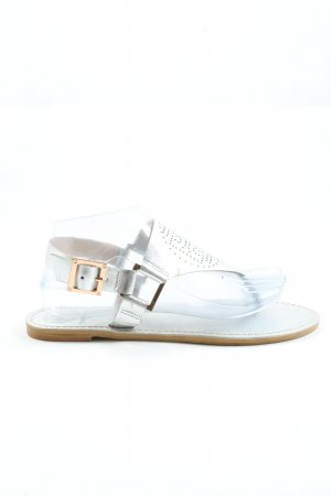 Tory Burch Dianette Sandals silver-colored casual look