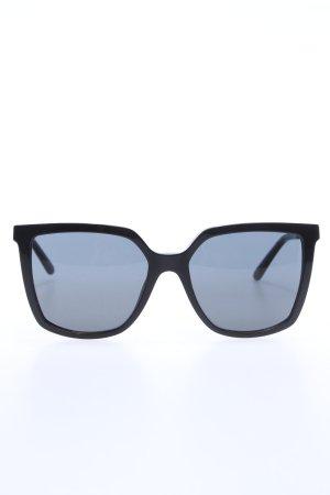 Tory Burch eckige Sonnenbrille schwarz Business-Look