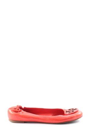 Tory Burch Składane baleriny czerwony W stylu casual