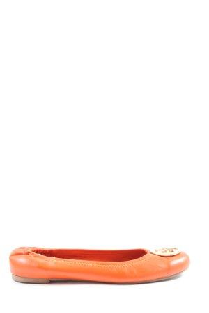 Tory Burch Składane baleriny jasny pomarańczowy W stylu casual