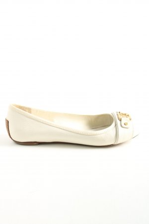 Tory Burch Bailarinas plegables blanco look casual