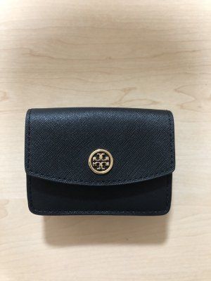 Tory Burch Wallet black-gold-colored leather