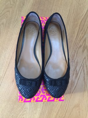 Tory Burch Ballerinas with Toecap black leather