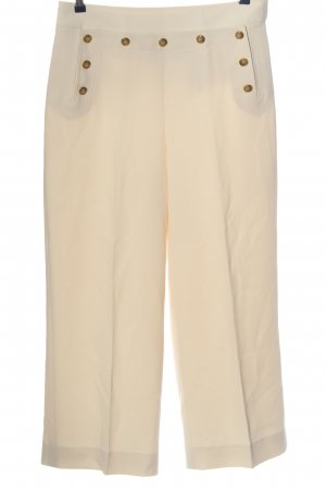 Tory Burch High-Waist Hose wollweiß Casual-Look