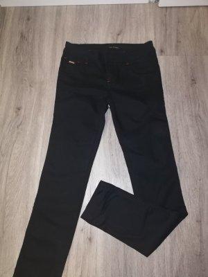 Tory Burch Pantalone elasticizzato nero-rosso mattone Lycra