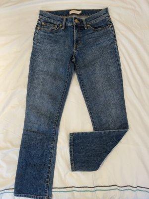 Tory Burch Straight Leg Jeans steel blue