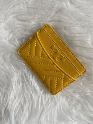 Tory Burch Custodie portacarte giallo-oro Pelle