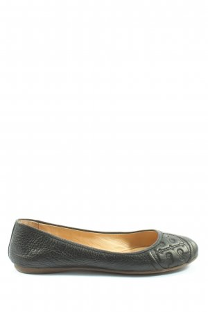 Tory Burch Classic Ballet Flats black abstract pattern elegant