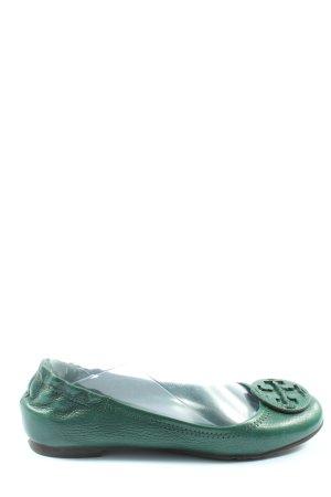 Tory Burch Klassische Ballerinas grün Casual-Look