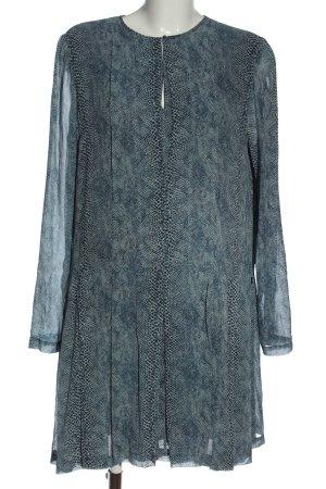 Tory Burch Longsleeve Dress blue-light grey allover print casual look