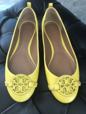 Tory Burch Ballerinas with Toecap yellow leather