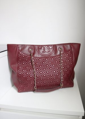 Tory Burch Luxus Leder Tasche Shopper Bordeaux