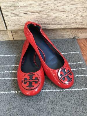 Tory Burch Minnie Ballerinas Gr. 38 38,5 (8M) rot Lackleder Ballerina Schuhe