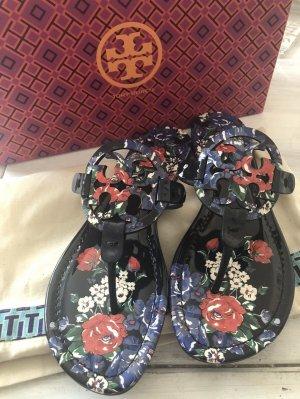 Tory Burch Sandały japonki z rzemykami niebieski Skóra