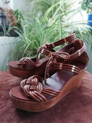 Tory Burch Monica wedge sandals original Gr. 8M (EU 38,5)
