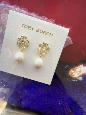 Tory Burch Kolczyk z perłą złoto-biały