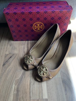 Tory Burch Décolleté con zeppa multicolore