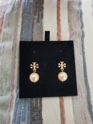 Tory Burch rosegold Ohrringe mit perlen