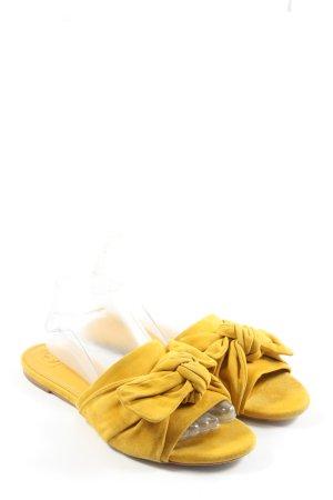 Tory Burch Sabot giallo pallido stile casual