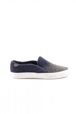 Tory Burch Slip-on Sneakers blue-light grey color gradient casual look