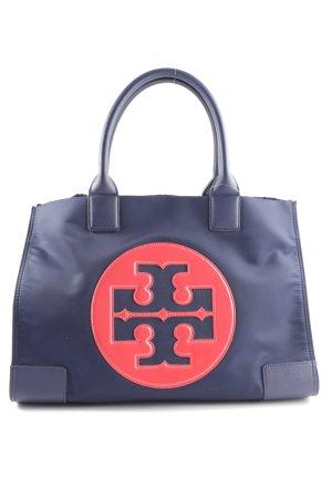 Tory Burch Schultertasche blau-rot Motivdruck Casual-Look