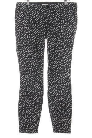 Tory Burch Skinny Jeans schwarz-hellbeige Punktemuster Casual-Look
