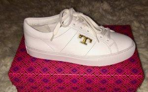 Tory Burch Sneaker stringata bianco-oro