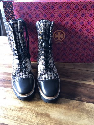 Tory Burch Lace-up Booties black