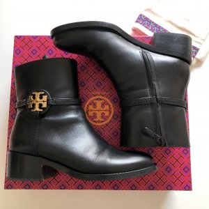 Tory Burch Booties black-gold-colored