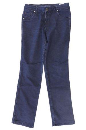 Tory Burch Jeans coupe-droite bleu-bleu fluo-bleu foncé-bleu azur coton