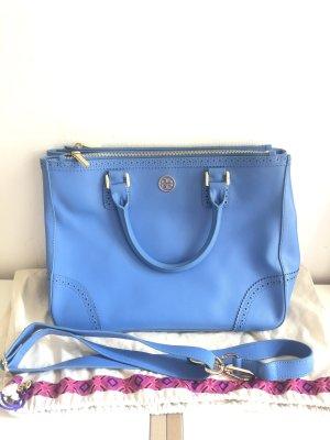 Tory burch Tasche leuchtend blau Gold