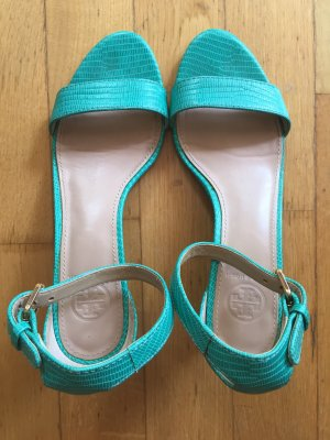 Tory Burch Strapped High-Heeled Sandals turquoise-green