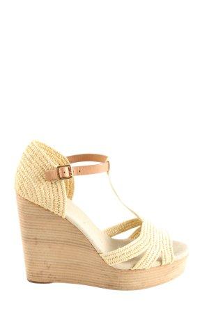 Tory Burch Wedge Sandals cream casual look