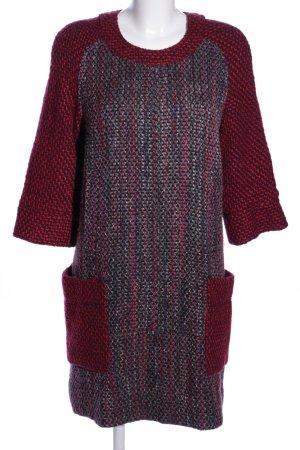 Tory Burch Robe en laine rouge-gris clair moucheté style décontracté