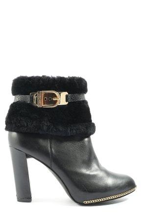 Tosca blu Keil-Stiefeletten schwarz-goldfarben Casual-Look