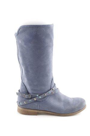 Tosca blu Stivale militare blu stile da moda di strada